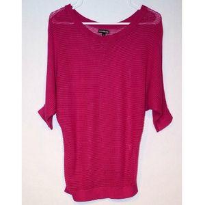 Express Open Knit Dolman Sweater, Size M